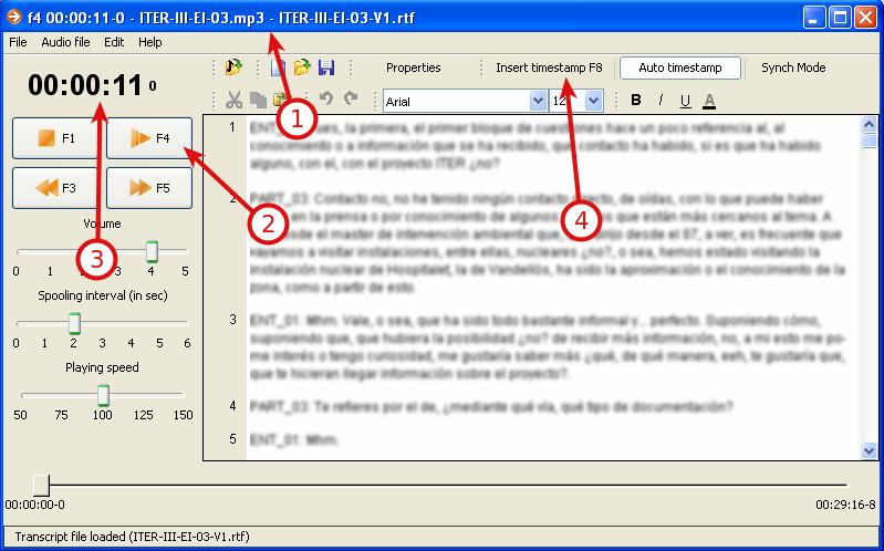 F4 con archivos abiertos